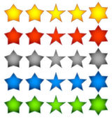Star shapes — Stock Vector