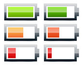 Battery level indicators (battery symbols) — Stock Vector