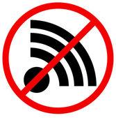 No signal, no connection vector sign. — Stock Vector