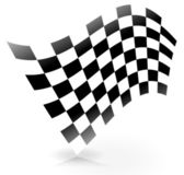 Racing Flag with Shadow — Stock Vector