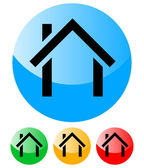 House symbols - House icons vector - Real estate, property, construction, building icon — Stock vektor