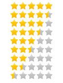 Yellow star(s) vector illustration - single star icon, star rating vector illustration — Stock Vector