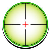Reticle, Crosshair clip-art — Stock Vector