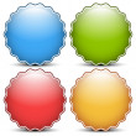 Glossy, shiny empty, blank badge set — Stock Vector #47978177