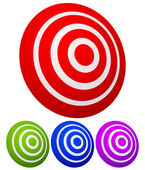 Rotated 3D target graphics. Target, aim, focus, accuracy ... — Wektor stockowy