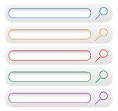 Minimal search bars, search button — Stock Vector
