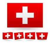 Swiss flag, flag of Switzerland — Stock Vector