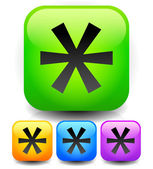 Asterisk star icon — Stock Vector