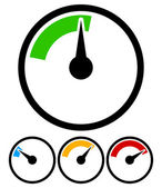 Pressure gauge, dial template — Stock Vector