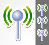 Antenne graphics with signal strenght — Stock Vector