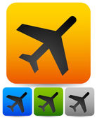 Simple plane, flight icons — Vector de stock