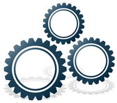 Gearwheel composition. — Stock Vector
