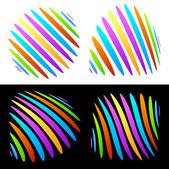 Funky vivid abstract shapes — Stock Vector