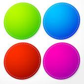 Barevné kruhy s šití — Stock vektor