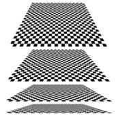 Checkered planes in different angles. Vector. — Stock Vector