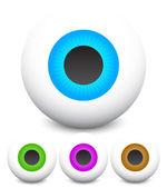 Eye vector graphics. Eyeball, vision, optics vector. — Stock Vector