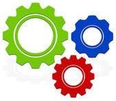 Composición de engranajes — Vector de stock