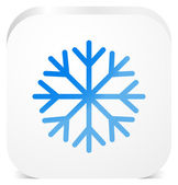 Snowflake vector icon — Stock Vector