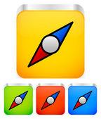 Compass' needle  icon — Stock Vector