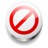 3d deny sign concept. Prohibition sign. — Stock Vector