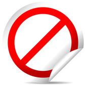 Deny, prohibition sign sticker — Stock Vector