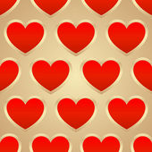 Heart seamless — Stock Vector