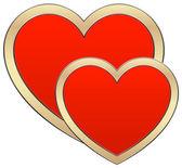Heart composition — Stock Vector