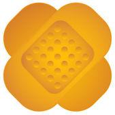 Cute, bold adhesive bandage icon, cartoon like band-aid graphics — Stock Vector