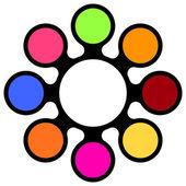 Multicolored vector template — Stock Vector