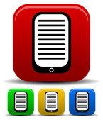 Pda, ebook reader icon — 图库矢量图片
