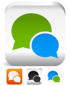 Set of speech bubble icons in different colors. Support, convers — Stock Vector