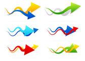 Arrow composition set — Stock Vector