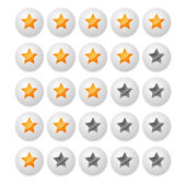Star rating from stars in balls, spheres — Stock Vector