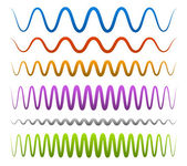 Abstract wavy, sinuous lines — Stock Vector