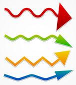 Wavy arrows — Stock Vector