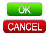 Ok and Cancel buttons — Stock Vector