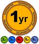 1 to 6 year guarantee seals — Stock Vector