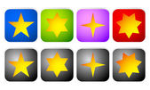 Rectangle star icons — Stock Vector