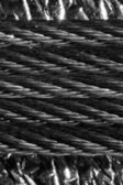 Braided metal cable closeup — Stock Photo