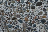 Pebble concrete wall — Stock Photo