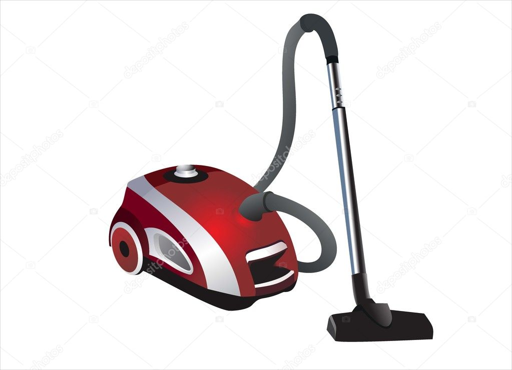 Vacuum cleaner isolated on white background  Stock Vector #12302151