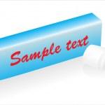 kauwgom geïsoleerd — Stockvector