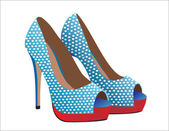Fashion shoes. — Stock Vector