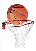 Basketball hoop and ball (basketball hoop with basketball, basketball and hoop) — Stock Vector