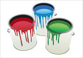 Cans of paint — Stock Vector