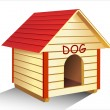 Stock Vector: Dog s kennel