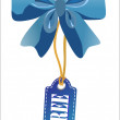 Sales tag with gift bow  Vector illustration — 图库矢量图片