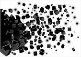 абстрактные геометрические фигуры из кубов на белом фоне. вектор — Cтоковый вектор