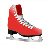 Image of figure skate. Isolated on white background — Stock Vector
