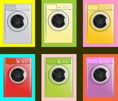 Washing machine — Stock Vector